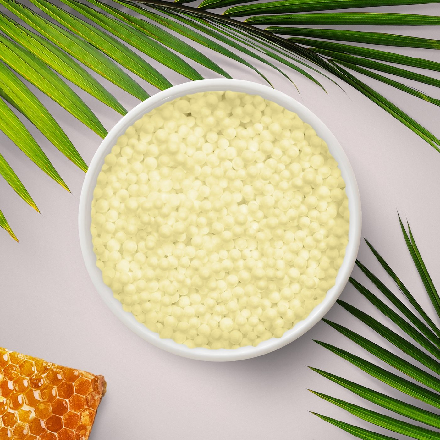 Creamy wax beads with honeycomb from KahlWax, stocked and sold by H Foster in Leeds.