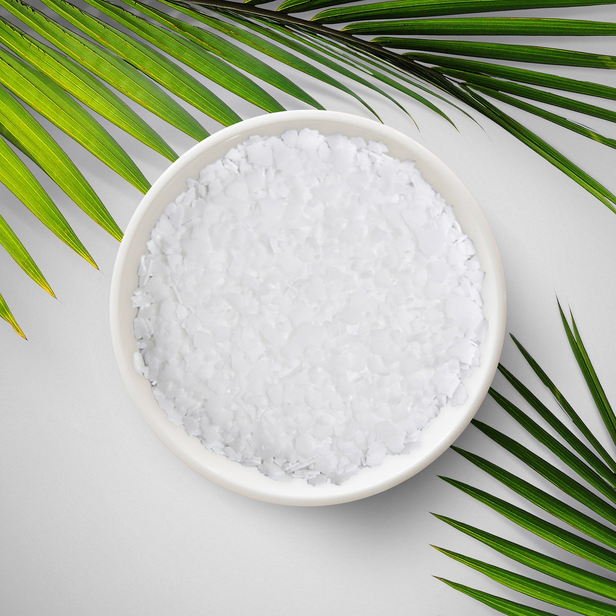 A vegetable-based flaky white substance for use in the cosmetic and pharmaceutical industry.
